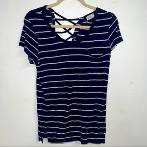 Glitz striped t-shirt top xl